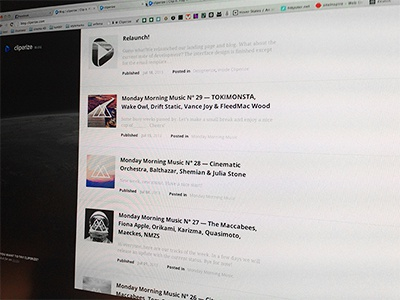 Cliperize Blog Redesgin cliperize blog music video website redesign rebrush