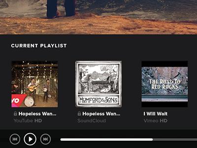 Playlist Concept playlist flat concept menu music video fullscreen