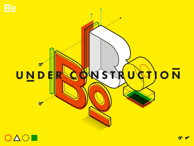 Under Construction Illustration WIP illustration flat under construction wip isometric