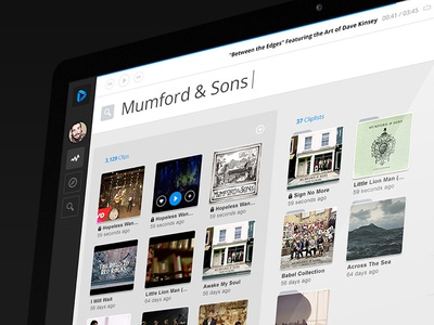 Cliperize Webapp cliperize web app search dark blue angularjs music video youtube