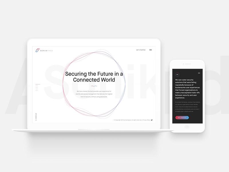 Sonikpass Redesign white clean app illustration typography minimal