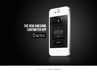 Awesome Lightmeter App Landing Page