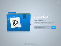 Cliperize App Landing Page