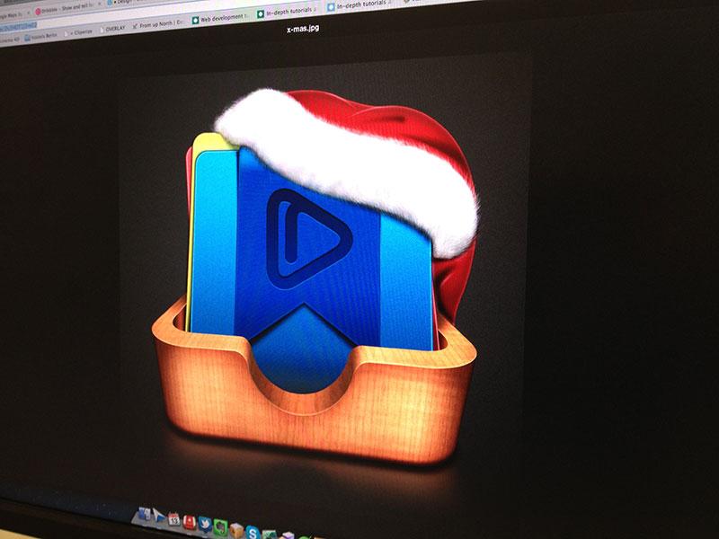 Cliperize × Christmas Icon cliperize app web webapp ui ux bookmark music video christmas hat icon
