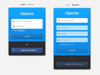 Cliperize Login Page