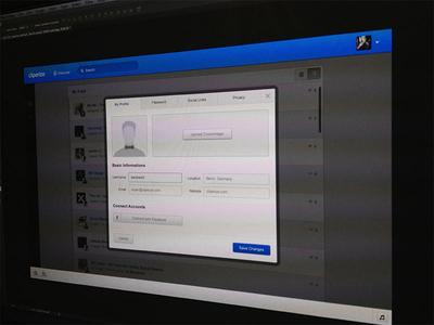 Settings box cliperize app web webapp ui ux bookmark music video settings