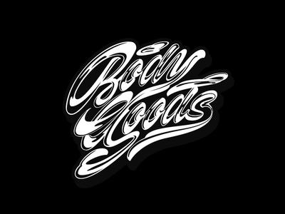 body goods sport typography signature clothing logotype type logo brushpen calligraphy lettering