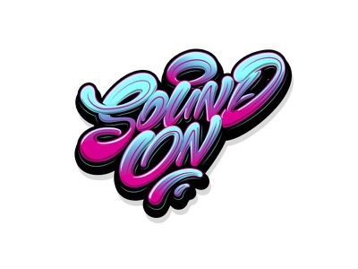 Sound On sport typography procreate graffiti леттеринг каллиграфия logotype type logo brushpen calligraphy lettering