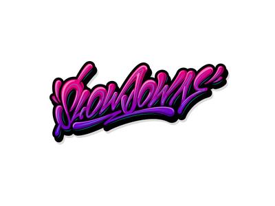 SlowDown graffiti граффити леттеринг каллиграфия slow illustration typography logo logotype type brushpen calligraphy lettering