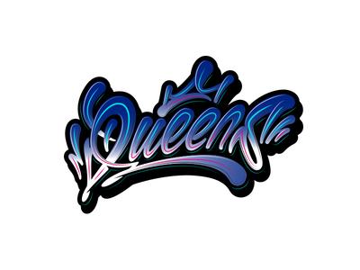 Queens логотип лого graffiti граффити леттеринг каллиграфия queen queens new york illustrations vector typography illustration design logotype logo lettering calligraphy
