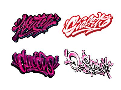 LETTERING SET 12 / GRAFFITI LIQUID STYLE procreate handlettering type 3d graffiti каллиграфия леттеринг typography vector design illustration logotype logo lettering calligraphy