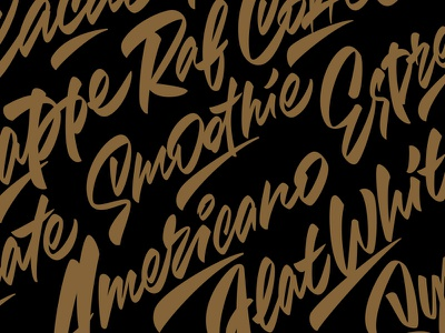 Coffee lettering coffee typography illustration леттеринг каллиграфия logotype type brushpen logo lettering calligraphy