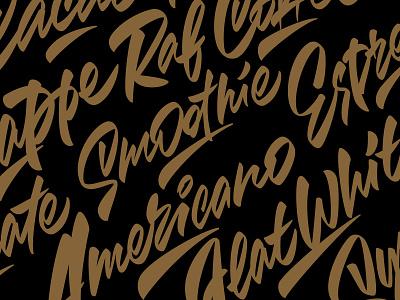 Coffee lettering coffee typography illustration леттеринг каллиграфия logotype type brushpen logo lettering calligraphy