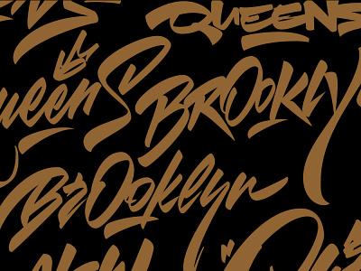 New-York bundle boston queens bronx brooklyn new york typography logotype graffiti illustration леттеринг каллиграфия brushpen logo lettering calligraphy