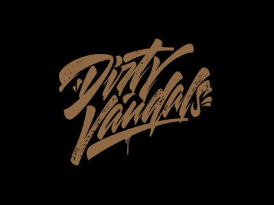 Dirty Vandals process vector youtube designer illustration graffiti леттеринг каллиграфия signature logotype brushpen logo lettering calligraphy