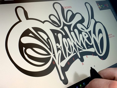 Breaker vector process typography graffiti illustration леттеринг каллиграфия logotype brushpen logo lettering calligraphy