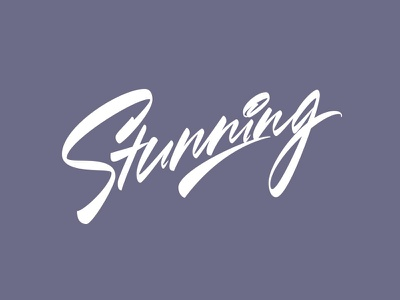 Stunning - vector lettering for sale type stunning каллиграфия леттеринг sale creative market design illustration signature logotype brushpen logo lettering calligraphy