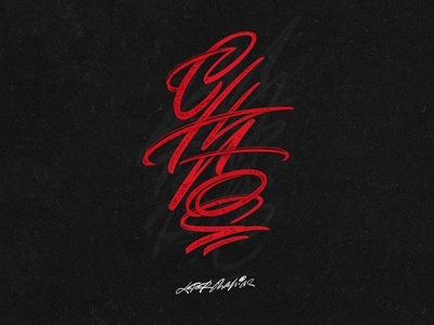 CHAOS type signature pen logo lettering design collection chaos calligraphy brush cyrillic behance