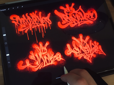 Custom tags with my brushes in Procreate app on iPad Pro