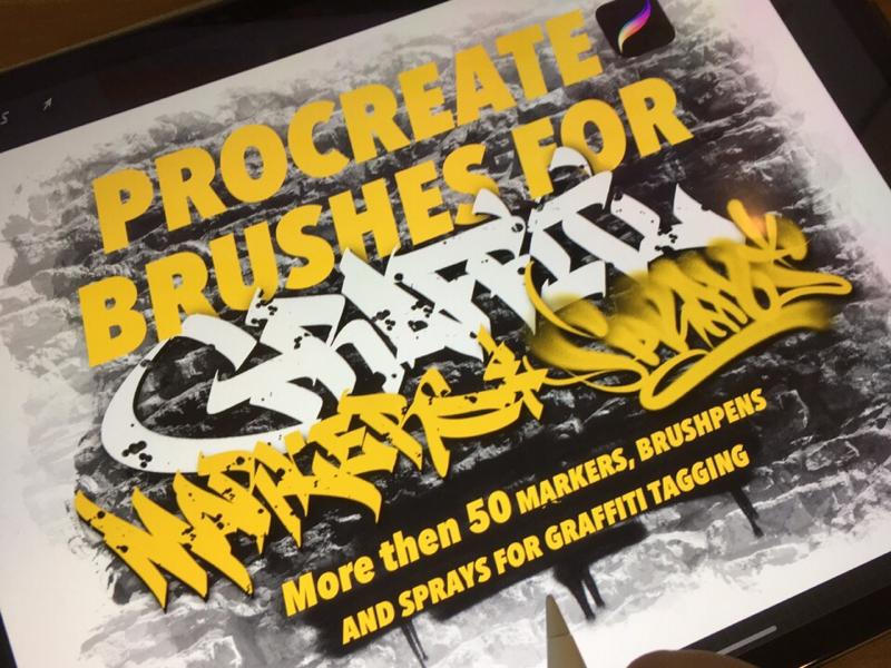 Procreate brushes for graffiti procreate леттеринг каллиграфия spray graffiti typography logotype type logo brushpen calligraphy lettering