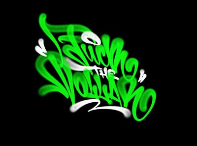 fuck the dollar procreate spray fat cap tagging каллиграфия леттеринг graffiti logotype type logo brushpen calligraphy lettering