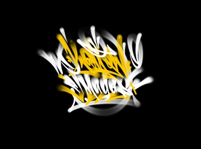 yellow images fat cap tagging spray procreate graffiti каллиграфия леттеринг typography logotype logo type brushpen calligraphy lettering