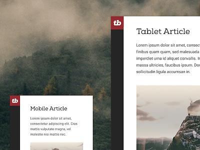 Dribble Drabble responsive website
