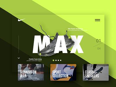 Nike - Concept Landing Page webdesign nike shoes sports website design website interface concept website ui branding interface design minimal