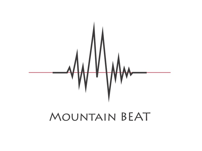mountain beat pulse simple music logo beat minimalistic simplistic minimal logo flat adobeillustator simple logo concept logodesigns