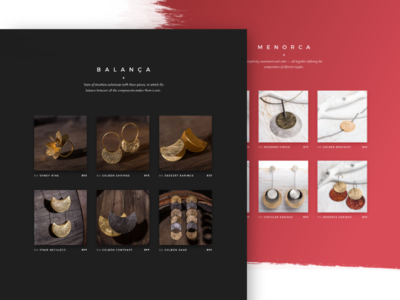 Claudia Llop — Collections space web design collection website photoshop brush jewelry adobe xd