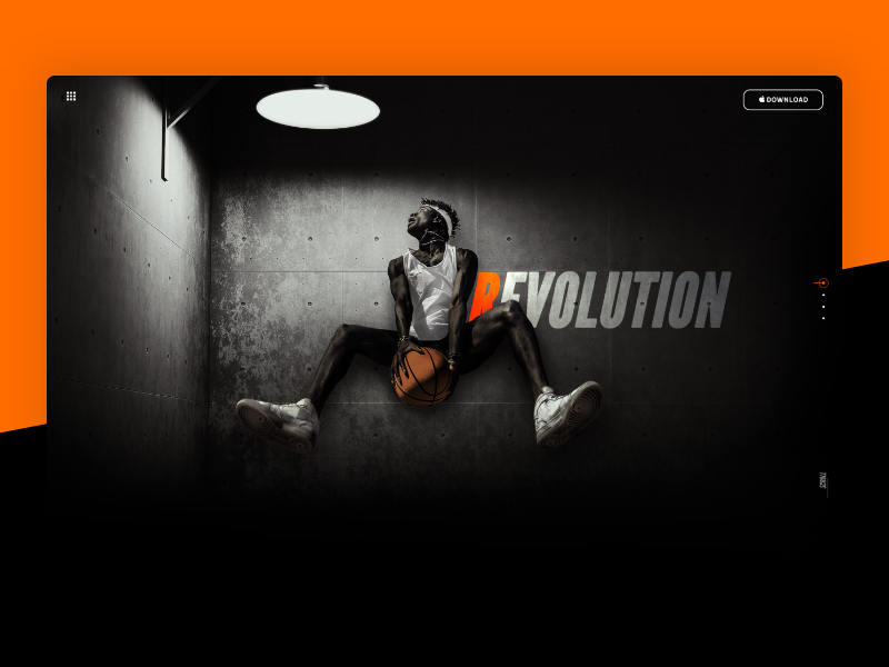 Revolution — Header one pager long website jump dunk basketball sports composition photoshop header revolution