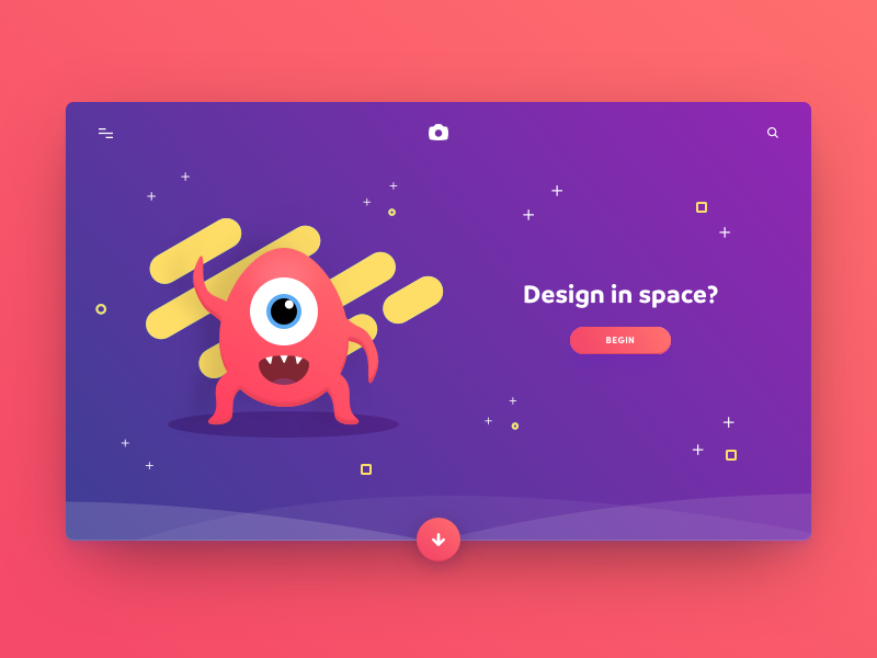 Landing Page – Daily UI #003 gradients ui hero landing illustration card credit card flat colorful bright daily ui dailyui