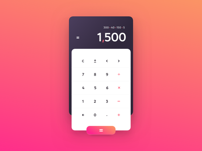 Calculator – Daily UI #004 numbers calculator vector typography ux ui design flat colorful bright daily ui dailyui
