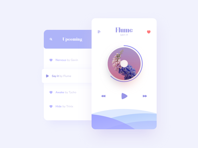 Music Player – Daily UI #007 shadow vector typography ux ui design flat daily ui dailyui player music app