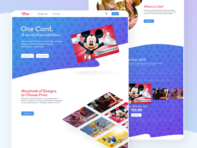 Disney Gift Cards Refresh principle sketch animation ui design desktop mobile web gift cards disney