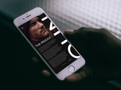 The Process animation creative mobile mockup prototype graphic sketch mac ux ui design