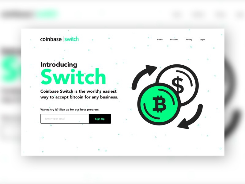 Daily UI #003 Landing Page form up sign email white green bitcoin challenge ui daily page landing