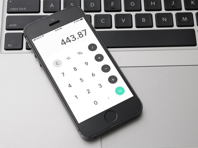 Daily UI #004 Calculator iphone numbers material challenge calculator design sketch ui daily
