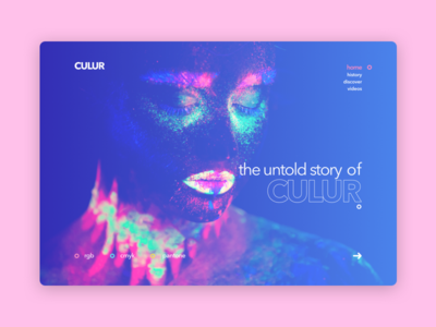 The Untold Story of CULUR ux ui colors portrait women colorful design web page landing sketch