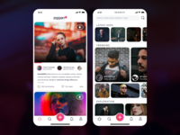 Zappen Stories photos icons stories video minimal clean daily ui ux sketch