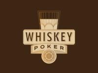 Whiskey Poker old ornate glass spirits poker vintage copper gold design