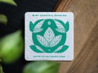 Plantable Mint Coaster sustainable leaf leaves plantable plant design print green coaster mint