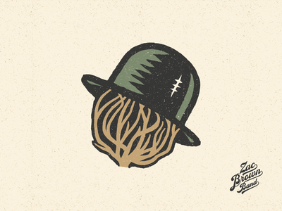 Zac Brown Band Illustrations vintage hat tumbleweed bear snake owl eagle peach illustration stickers band tattoos skull country
