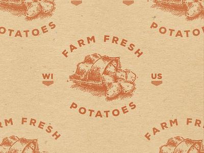 Wisconsin Potatoes. wisconsin potatoes farm fresh usa murica burlap sack rustic