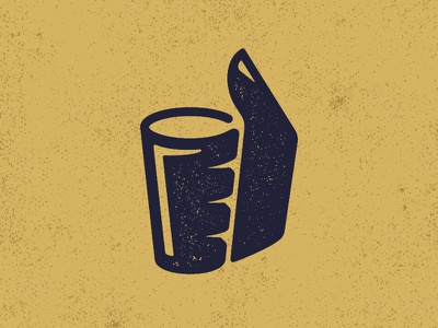 Beers Up thumb monogram brewski wisconsin texture suds pint brew gold drink thumbs up beer