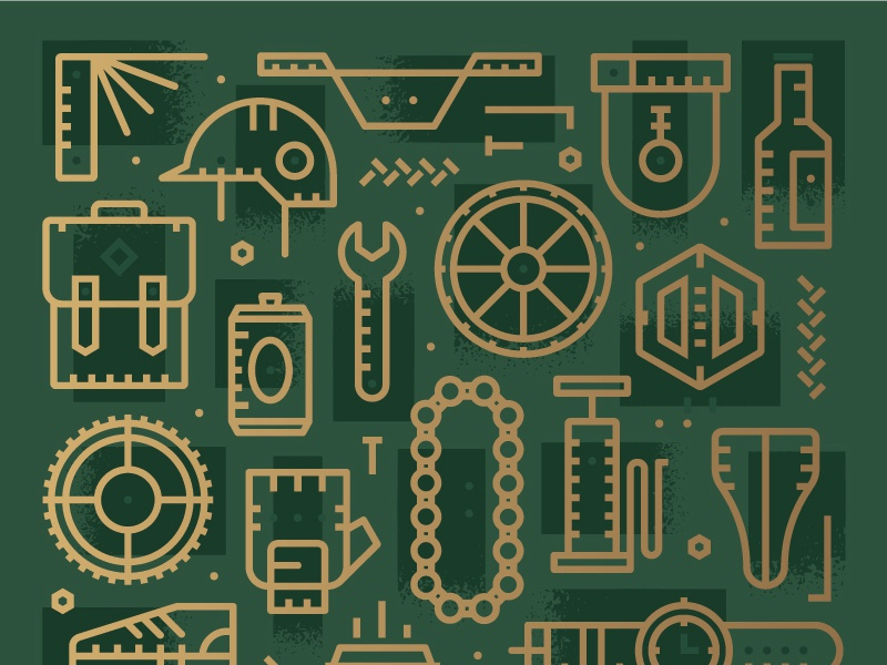 Artcrank Exploration chain wheel parts biking helmet foil gold green minnesota beer bike artcrank