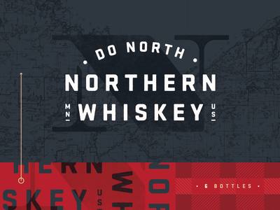 Northern Whiskey alcohol nature wild red navy gold plaid flannel topography north whiskey northern