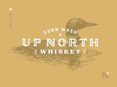 Up North Whiskey corn mash degrees star gold loon wild northern whiskey north