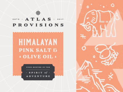 Atlas Provisions (Pink Salt) fun culture discovery pink salt olive yum packaging design