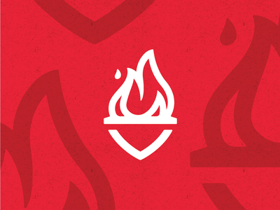 lil' flame brand torch flame design logo identity unused red fire